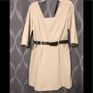 Taupe Mini Dress With Belt